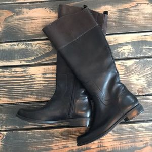 Black and Brown Nine West Boots